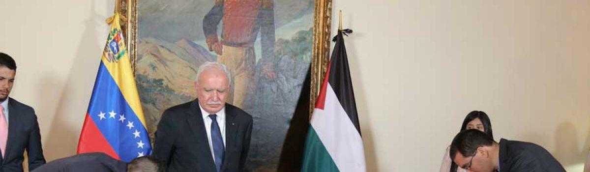Venezuela y Palestina firman memorandos de entendimiento en el área minera