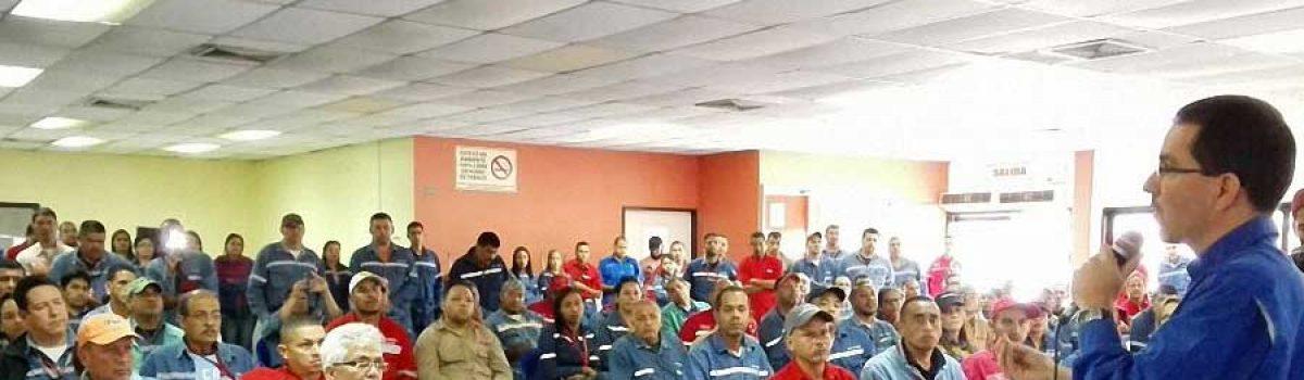 Ministro Arreaza llama a la clase trabajadora a acelerar desarrollo del Motor Minería