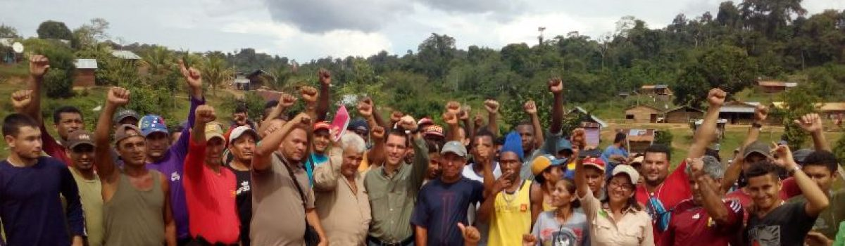 Gobierno Bolivariano promueve la organización popular para acelerar regularización de la pequeña minería