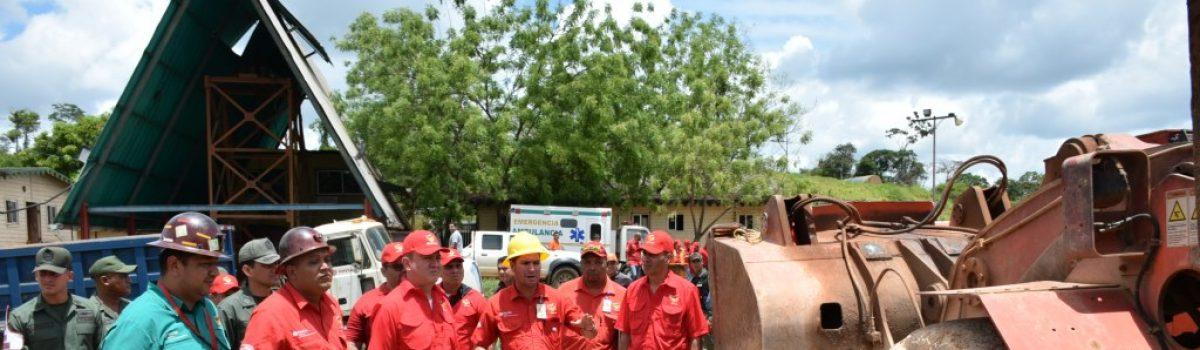 Nuevo Presidente de Minerven realizó recorrido en zonas mineras del estado Bolívar