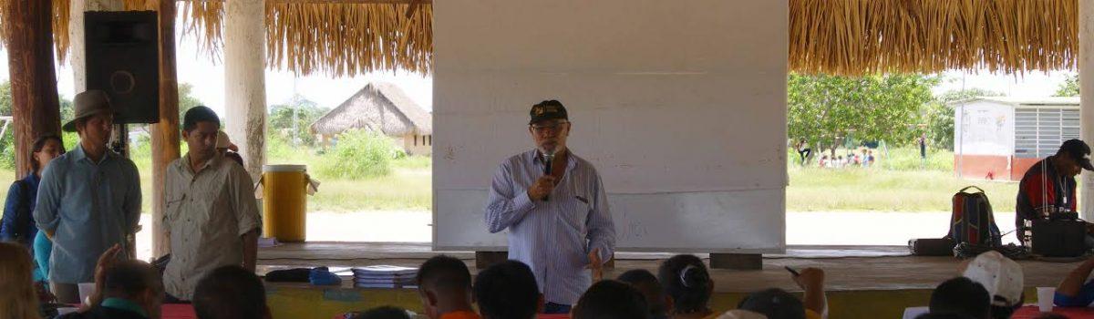Comunidades indígenas de Bolívar participan activamente en la concreción del proyecto Oro Azul