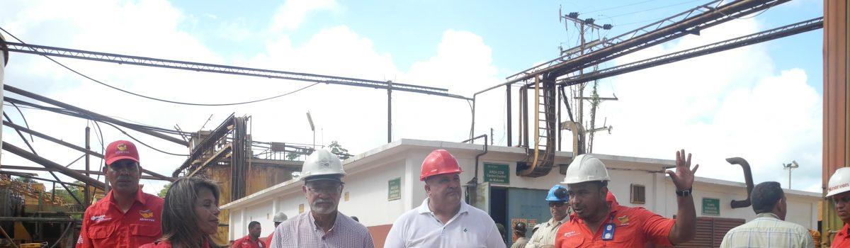 Nuevo presidente de Minervén  realizó recorrido en plantas y minas