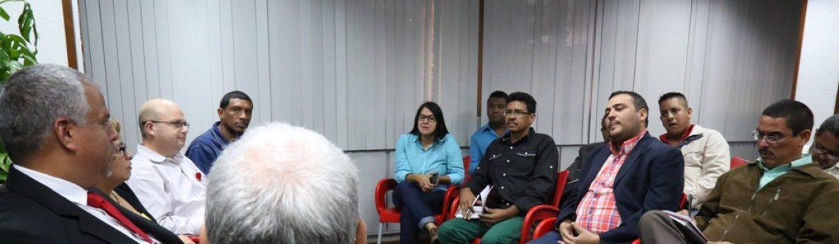 Constituyentes de Bolívar trataron con ministro Cano temas del Arco Minero del Orinoco