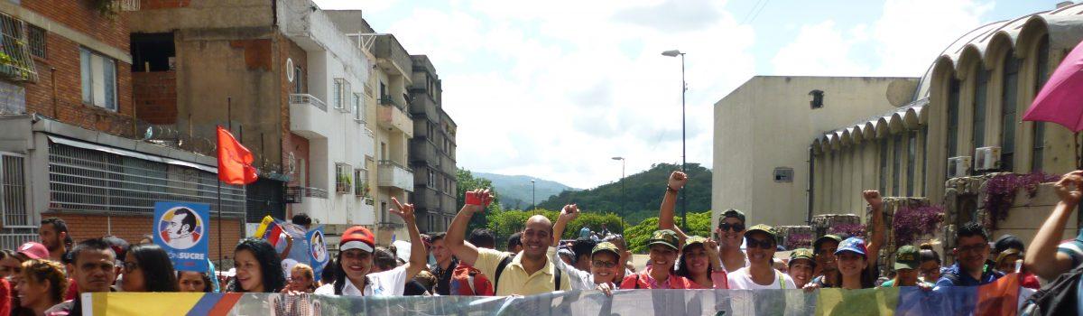 Trabajadores mineros marcharon por el Día del Estudiante