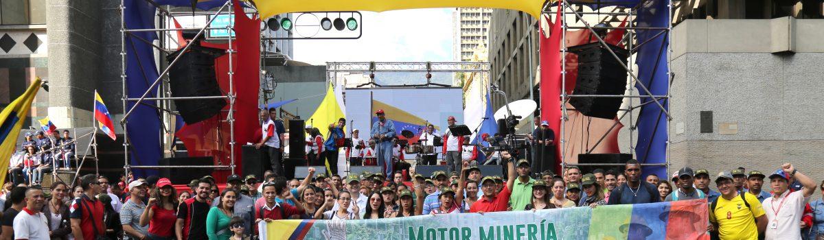 Motor Minero acompañó al presidente Maduro  en la presentación de su mensaje ante la ANC