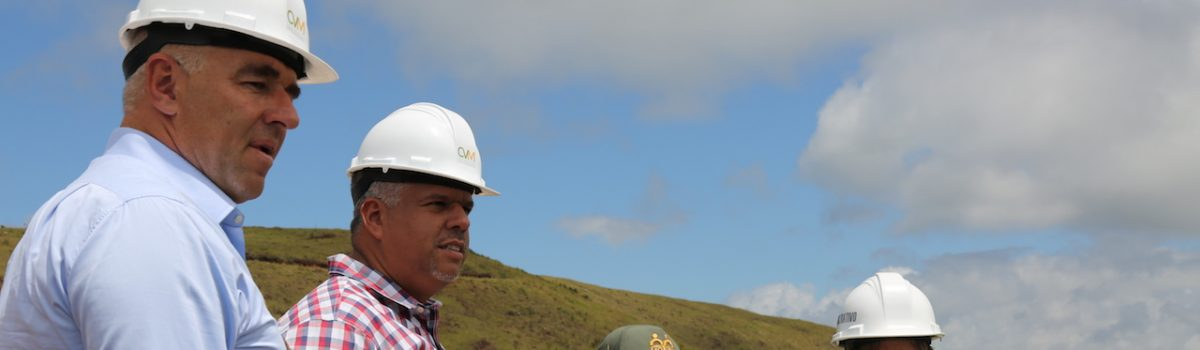 Ministro Cano supervisó avance de instalación de planta de reciclaje de escoria metálica en Miranda