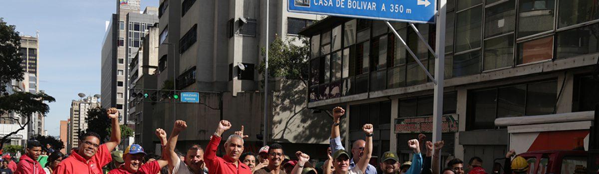 Trabajadores mineros acompañaron a los estudiantes en su día