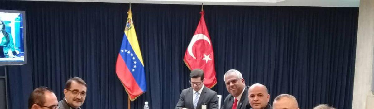 Venezuela y Turquía firmaron alianzas para intercambiar tecnologías y servicios mineros