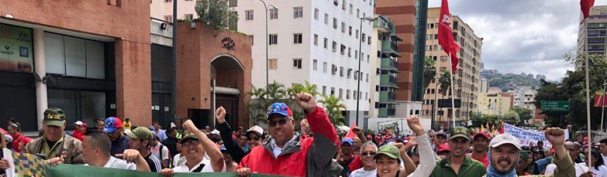 Trabajadores mineros se movilizaron por la convivencia, la democracia y la paz