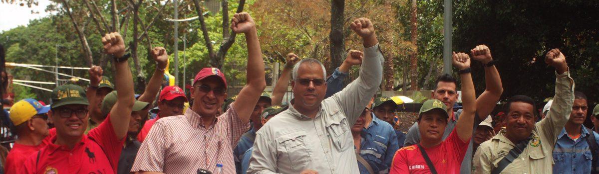 Motor Minero marchó en defensa de la patria, la paz y la soberanía