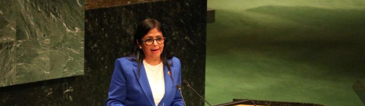 Vicepresidenta Delcy Rodríguez denuncia el terrorismo económico de Estados Unidos contra Venezuela