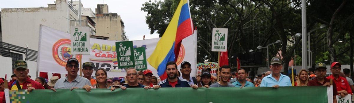 Motor minero marchó en respaldo al pueblo de Ecuador