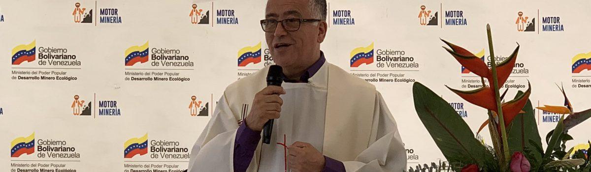 Fuerza laboral minera y autoridades participaron en eucaristía oficiada por el Padre Numa Molina