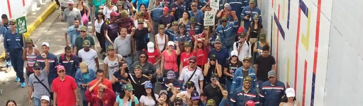 Motor Minero alzó su voz en contra de acciones desestabilizadoras de la derecha venezolana