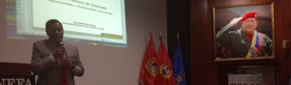 Ministro Pinto participó en conferencia sobre el Arco Minero
