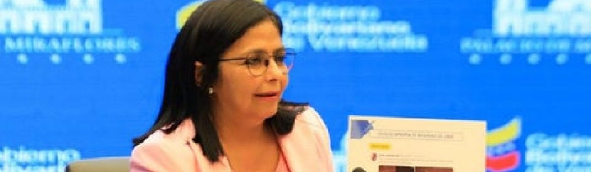 Delcy Rodríguez: Guaidó quiere robar el oro de Venezuela que se encuentra en el Banco de Inglaterra