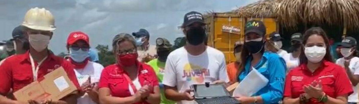 Jóvenes del Plan Chamba Juvenil Minera recibieron dotación de insumos por autoridades del Gobierno Bolivariano