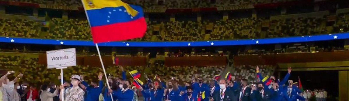 Ceremonia de Apertura JJ.OO. Tokio 2020   Venezuela ondea el tricolor patrio